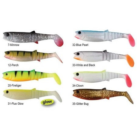 LEURRE SOUPLE SAVAGE GEAR CANNIBAL SHAD 12.5CM - PACK