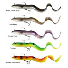 Lures Savage Gear REAL EEL READY TO FISH 20CM 01 BLACK GREEN PEARL