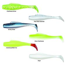 Zman  MINNOWZ 3'' Chartreuse/Red Tail - Chartreuse-Red Tail