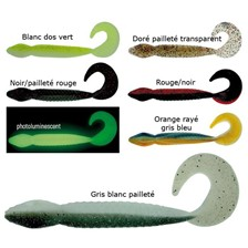 Lures Wave Worms ANACONDA GRIS BLANC PAILLETÉ