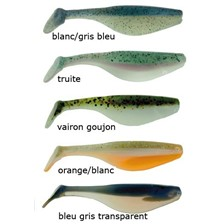Leurres Wave Worms PADDLE TAIL SHAD 8CM ORANGE/BLANC