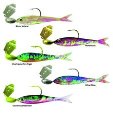 Lures Zman FLASHBACK MINI 2'' 03 CHARTREUSE/FIRE TIGER - CHARTREUSE FIRE TIGER