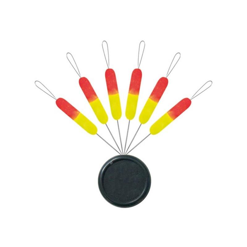 LINE GUIDE SERT X-TREND BLISTER FLOAT STICK FLUO - PACK OF 6 - N°1