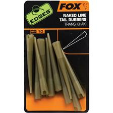 LINE TAIL RUBBERS FOX EDGES NAKED LINE TAIL RUBBERS - PACK OF 50