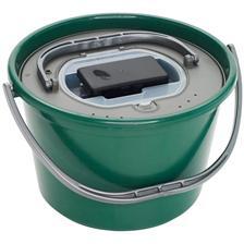 LIVEBAIT BUCKET PLASTILYS 18L ROUND GREEN  + LIVEWELL + AERATOR