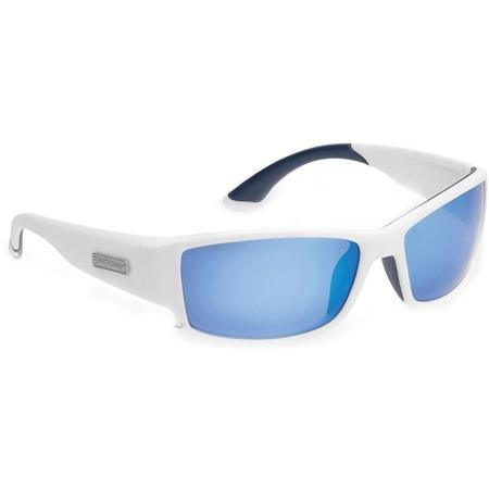 LUNETTES POLARISANTES FLYING FISHERMAN RAZOR MATTE WHITE SMOKE BLUE MIRROR