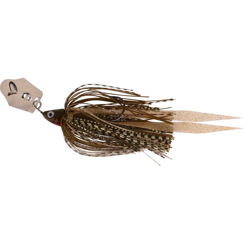 Lures Savage Gear CRAZY BLADE JIGS 14G MOTOR OIL GOLD SILVER