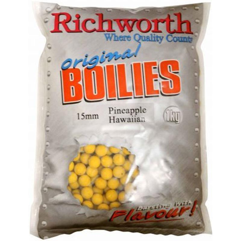 Baits & Additives Richworth ORIGINAL RANGE BOUILLETTE 0.4KG 15MM PINEAPPLE HAWAIIAN