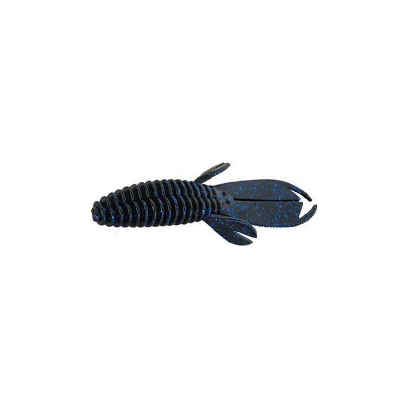 SPLIT TAIL BEAVER 10CM BLACK BLUE GLITTER
