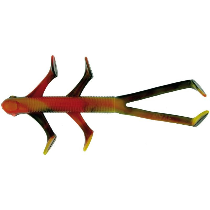 Lures Wave Worms TICKY MONKEY 10CM ORANGE NOIR ECREVISSE