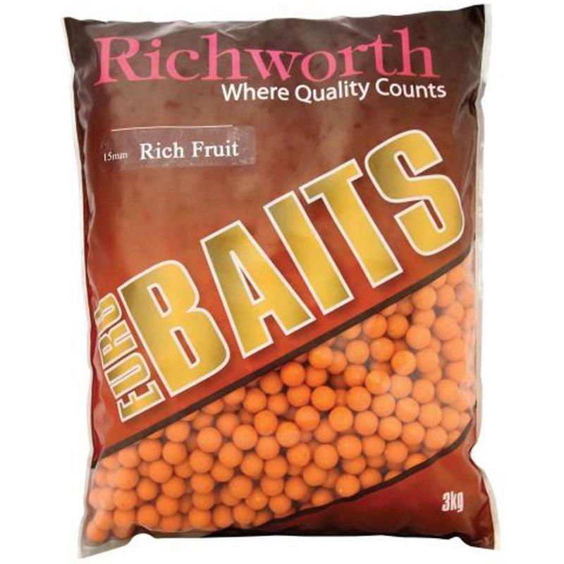 Baits & Additives Richworth EURO BOILIES 15MM RICH FRUIT