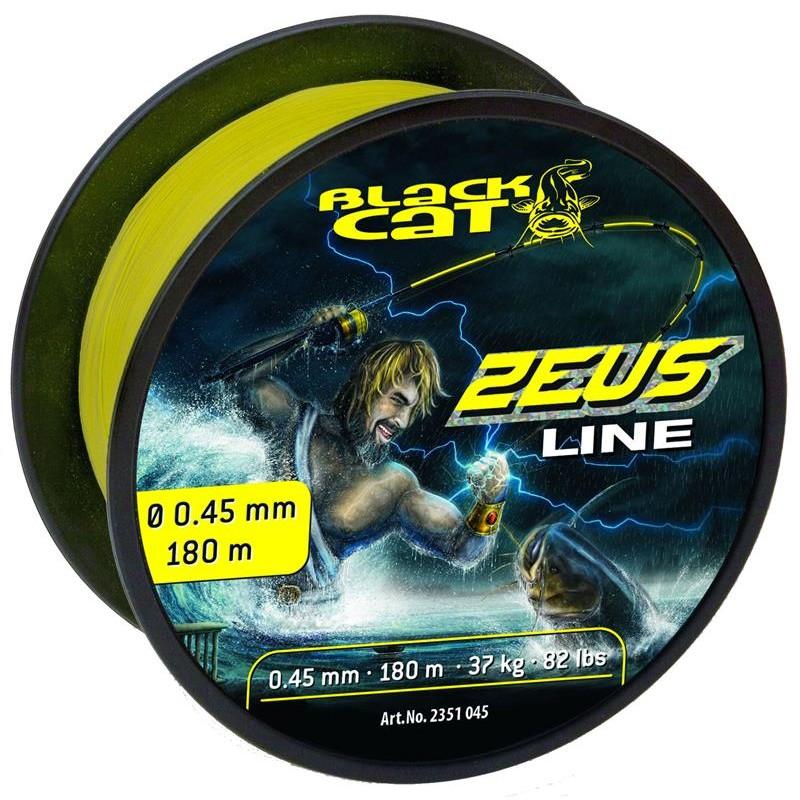 TRESSE BLACK CAT ZEUS LINE - JAUNE - 180m - 45/100