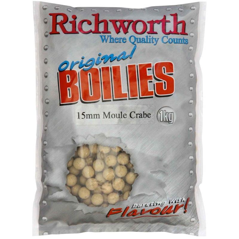 Baits & Additives Richworth ORIGINAL RANGE BOUILLETTE 1KG 20MM MOULE CRABE