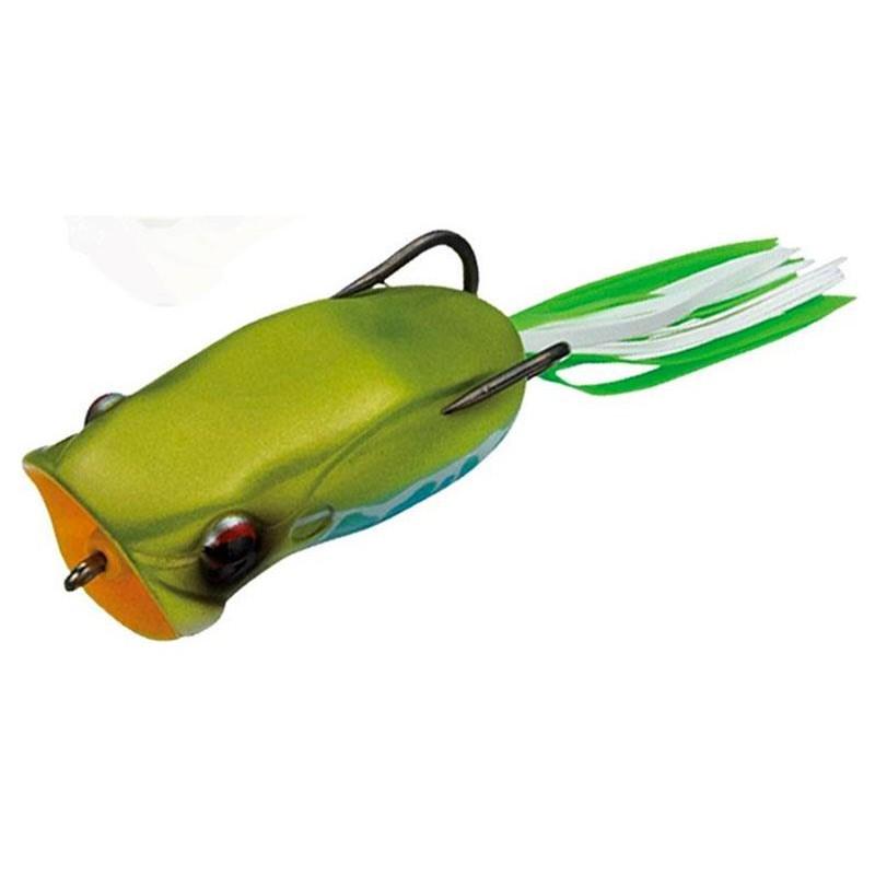 Lures Ever Green POPPER FROG 6CM AKAME AMAGAERU