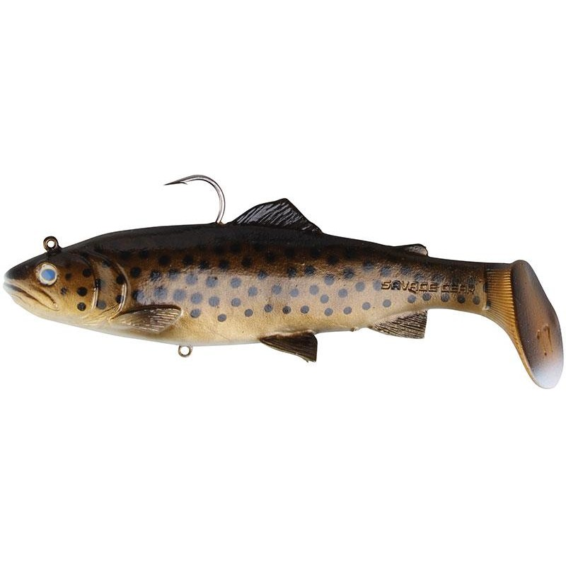 Savage Gear  3D TROUT RATTLE SHAD SS Dark Brown Trout - 20.5cm, 98g