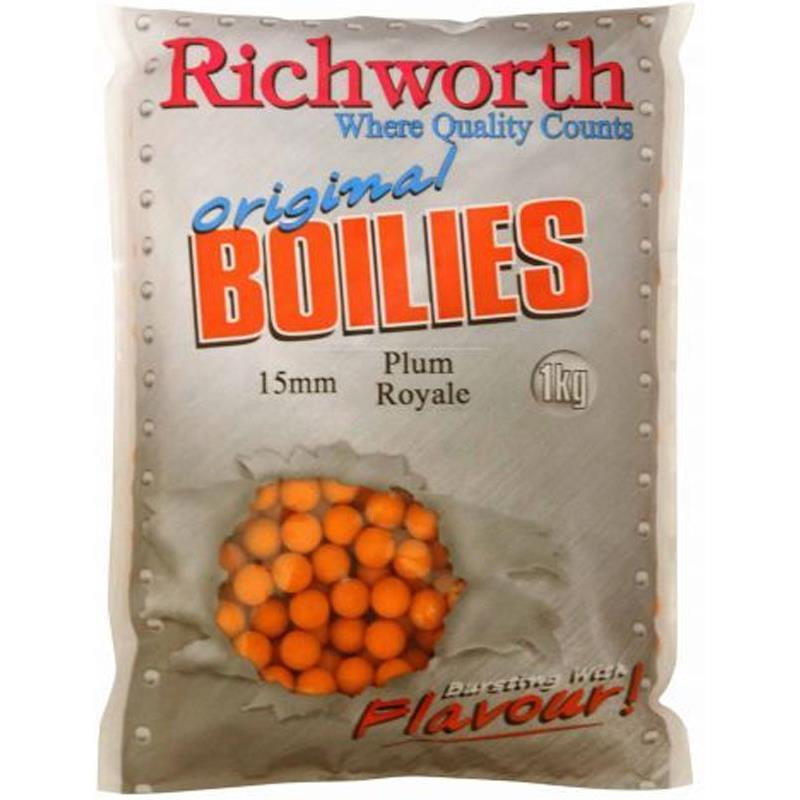 Baits & Additives Richworth ORIGINAL RANGE BOUILLETTE 5KG 15MM PLUM ROYALE