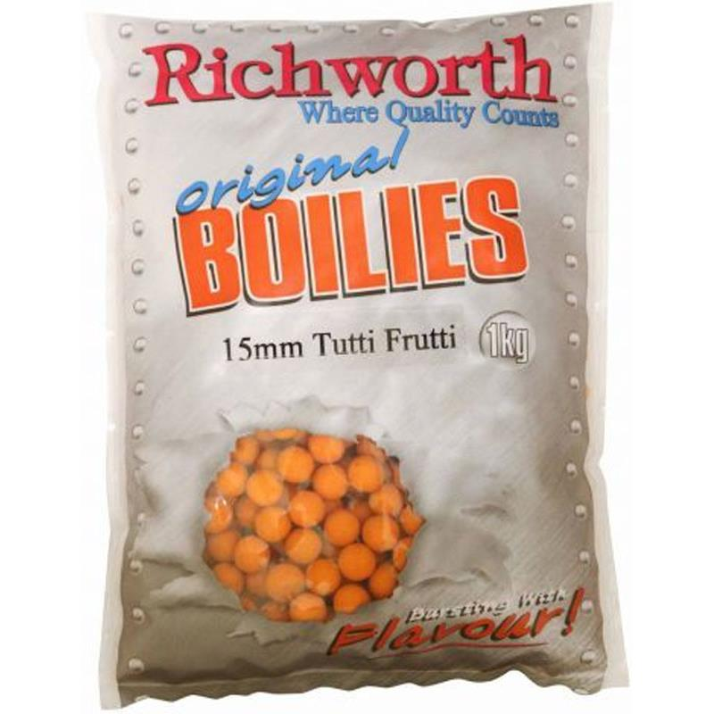 Baits & Additives Richworth ORIGINAL RANGE BOUILLETTE 5KG 15MM TUTTI FRUTTI