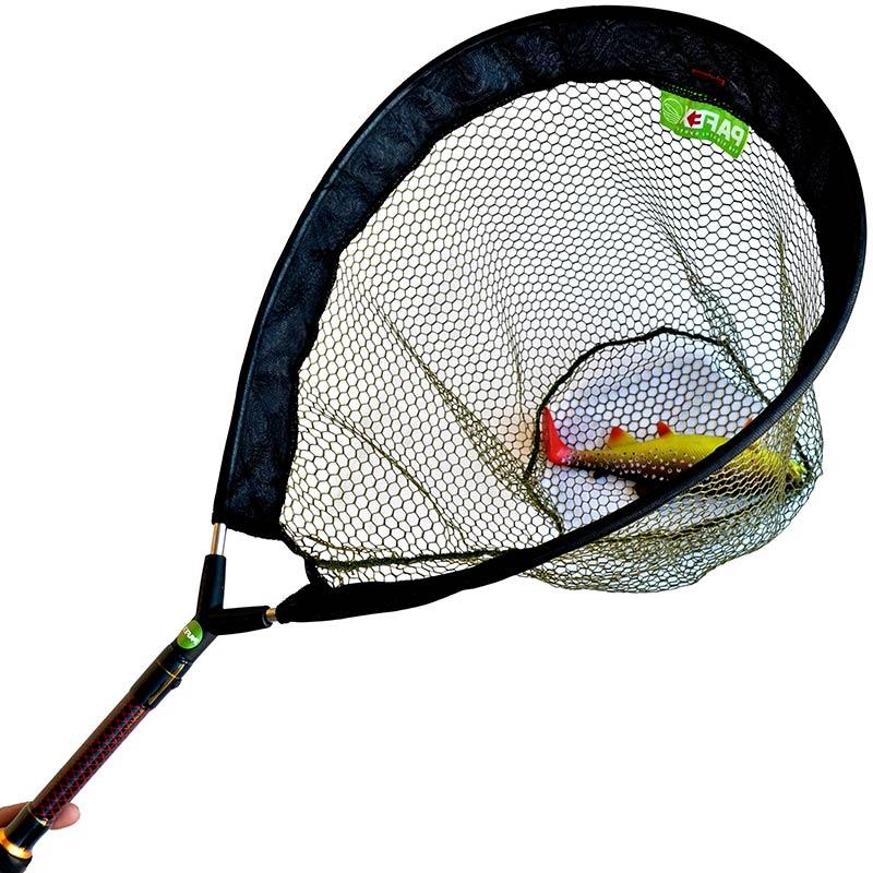 Accessories Pafex FLYNET MANCHE CARBONE ROUGE FILET FIN 45CM 72CM