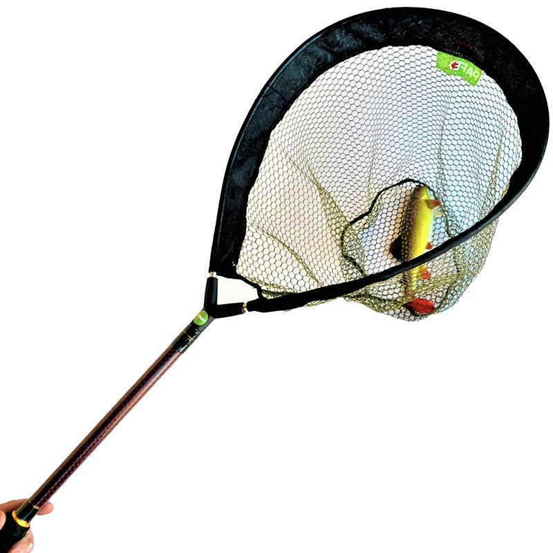 Accessories Pafex FLYNET MANCHE CARBONE ROUGE FILET FIN 45CM 85CM