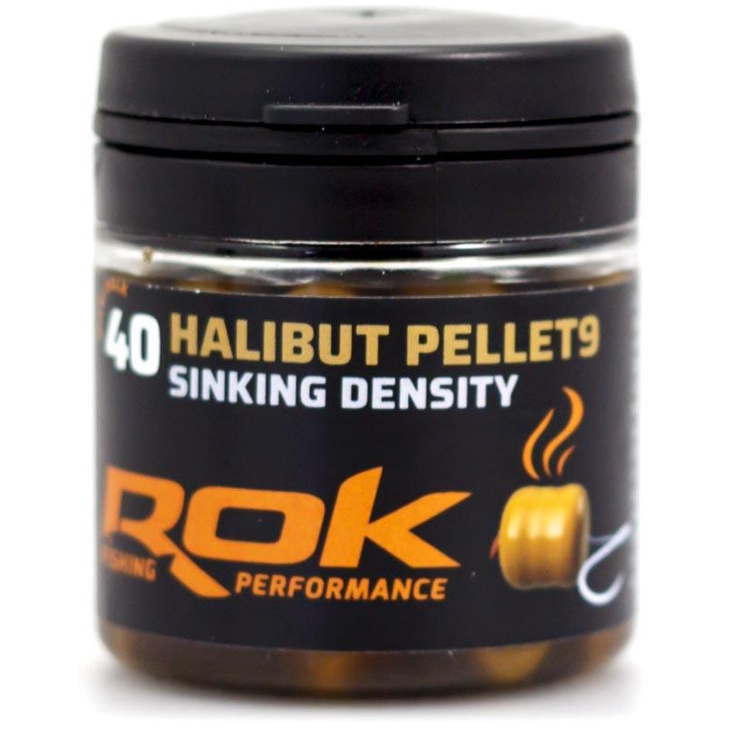 Baits & Additives Rok Fishing HALIBUT PELLET SINKING DENSITY 9MM MARRON