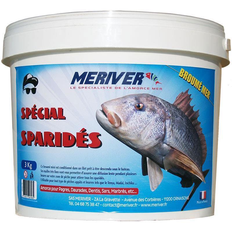 Baits & Additives Meriver AMORCE BROUME MER SPECIAL SPARIDES 3KG AR00170