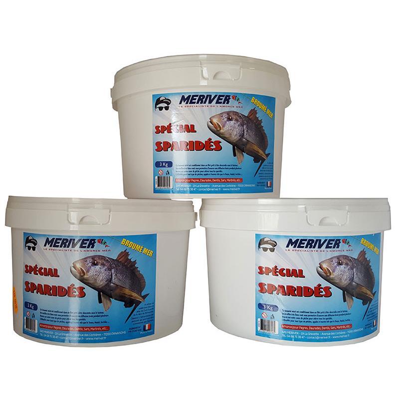 Baits & Additives Meriver AMORCE BROUME MER SPECIAL SPARIDES 3KG AR00902 3 X 3KG