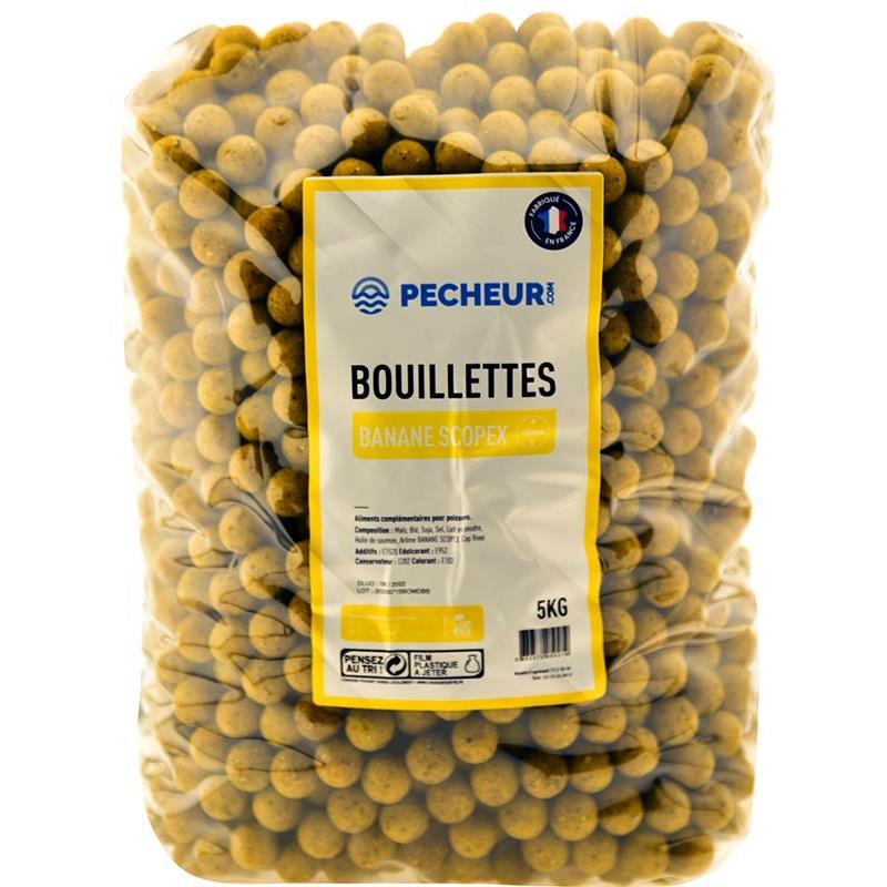 Baits & Additives Pecheur.com PECHEUR.COM BY CAP RIVER BOUILLETTE BANANE SCOPEX 16MM
