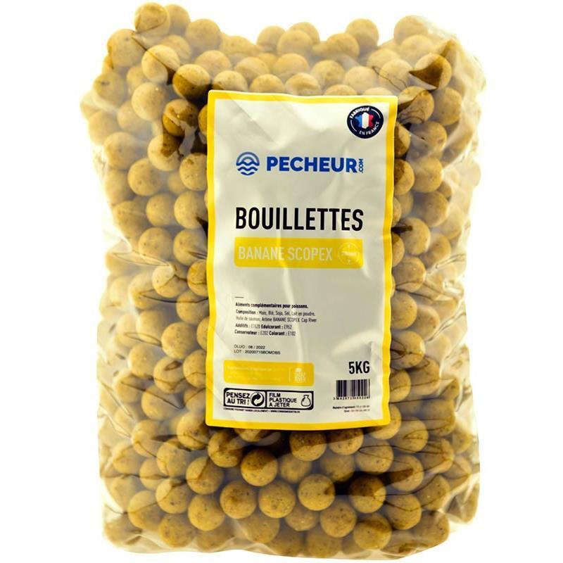 Baits & Additives Pecheur.com PECHEUR.COM BY CAP RIVER BOUILLETTE BANANE SCOPEX 20MM