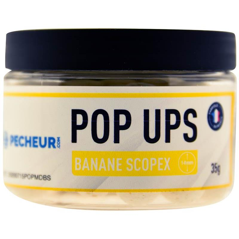 Baits & Additives Pecheur.com PECHEUR.COM BY CAP RIVER POP UPS BANANE SCOPEX
