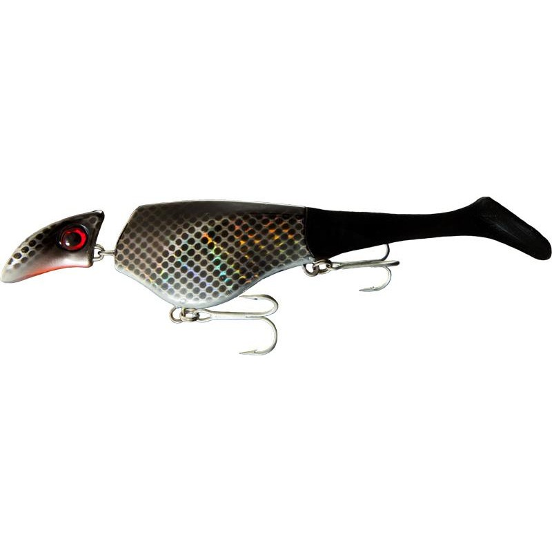 LEURRE SUSPENDING HEADBANGER SHAD - 22CM - Black Metal
