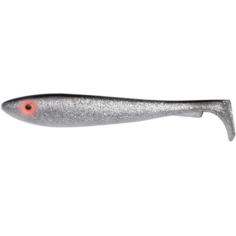 Lures Svartzonker MCRUBBER THE CLASSIC SHAD 17CM BLACK SILVER