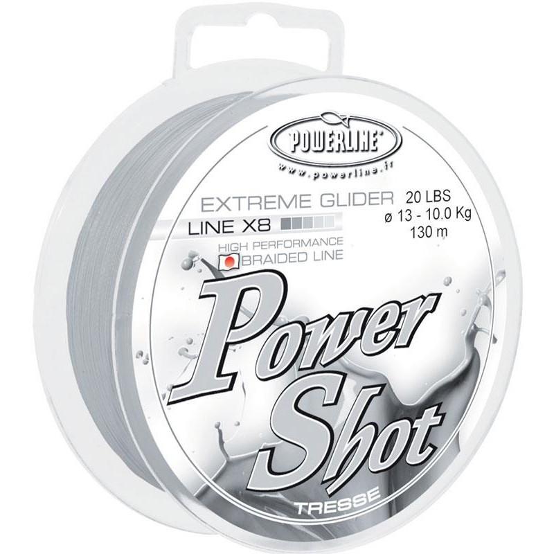 TRESSE POWERLINE POWER SHOT 130M - Blanc -  7/100