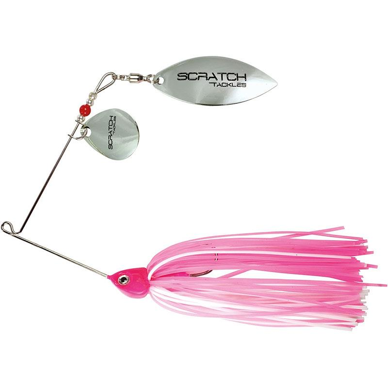 Leurres Scratch Tackle SPINNER ALTERA 14G BLANC ROSE