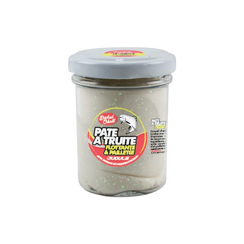 Baits & Additives Dudule PATE A TRUITE PAILLETEE BLANC
