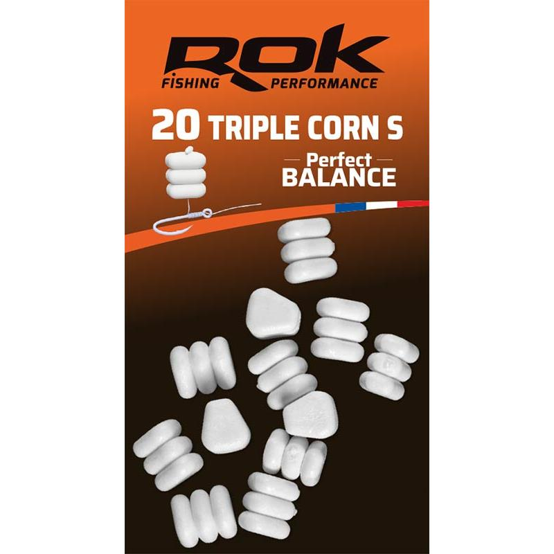 Baits & Additives Rok Fishing TRIPLE CORN S PERFECT BALANCE MAIS ARTIFICIEL BLANC