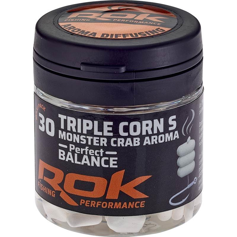 Baits & Additives Rok Fishing TRIPLE CORN S PERFECT BALANCE MAIS ARTIFICIEL + TREMPAGE BLANC