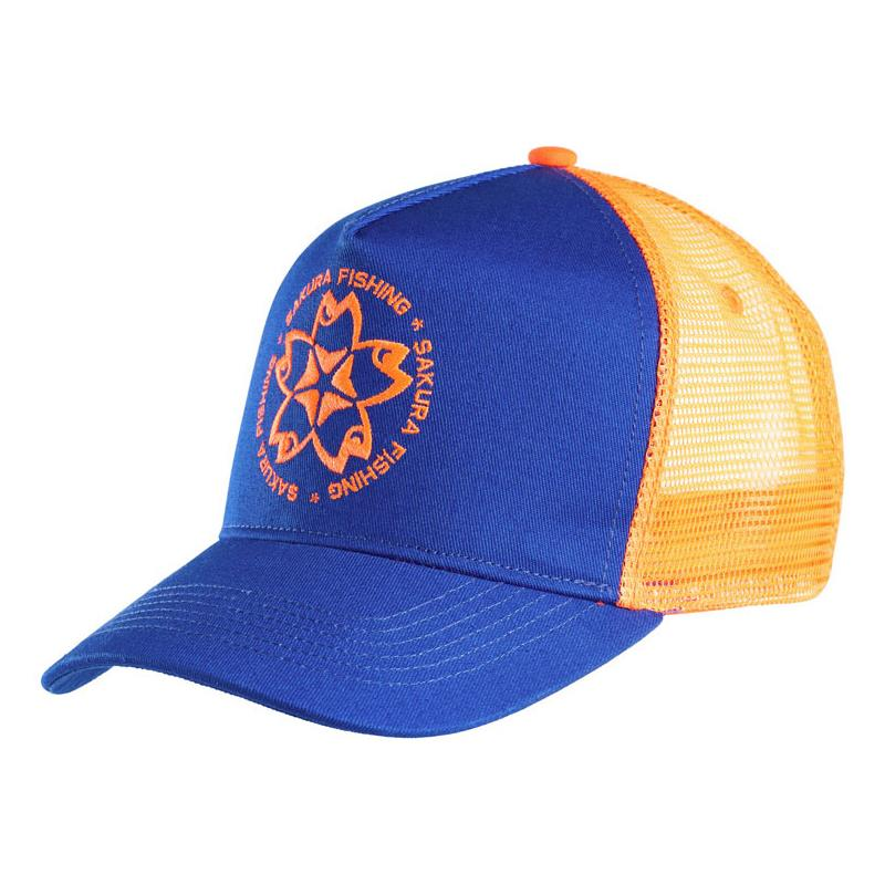 Apparel Sakura TRUCKER BLEU ORANGE