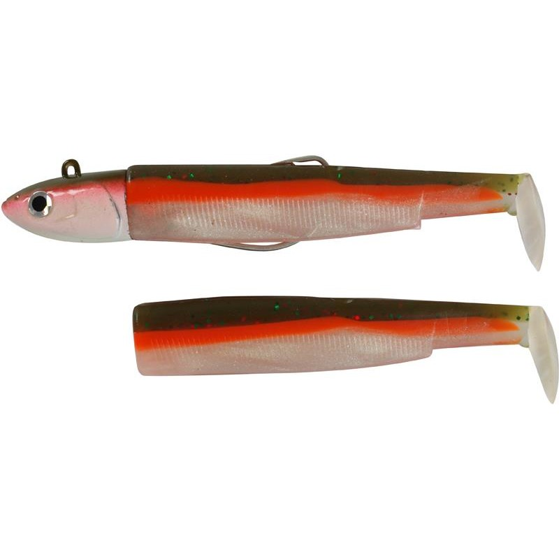 COMBO BLACK MINNOW 160 + TETE PLOMBEE DEEP CANDY GREEN