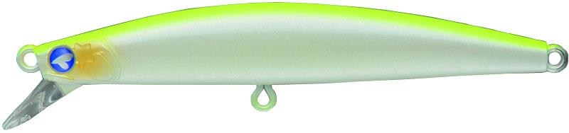 Lures Blue Blue BLOOOWIN 80S 8CM CHARTREUSE BACK PEARL