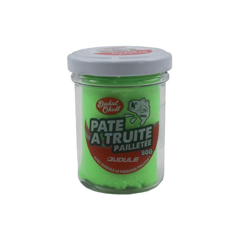 Baits & Additives Dudule PATE A TRUITE PAILLETEE CHARTREUSE
