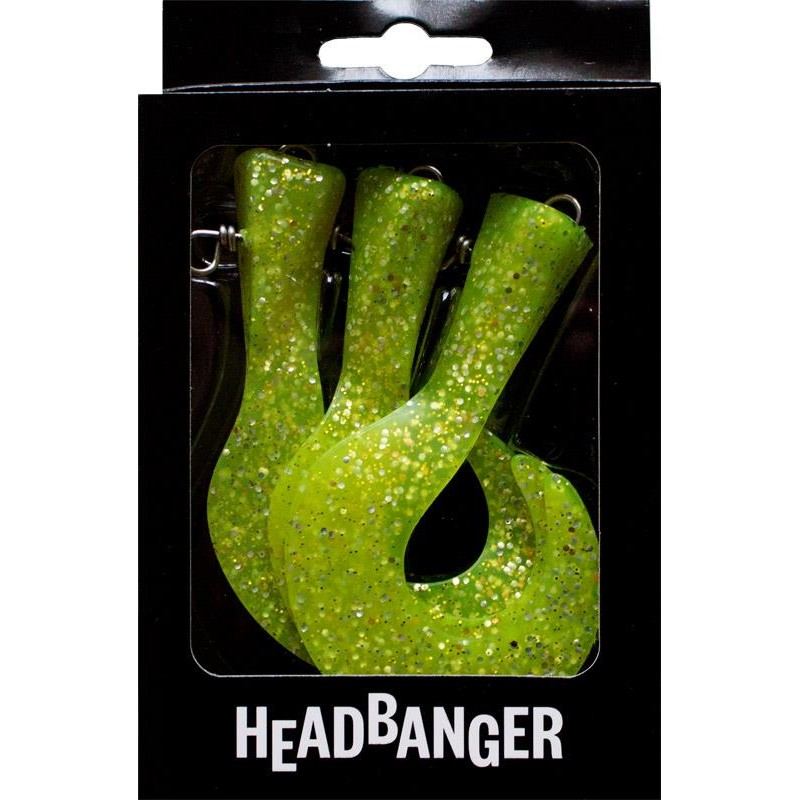Lures HeadBanger TAIL REPLACEMENT TAILS CHARTREUSE