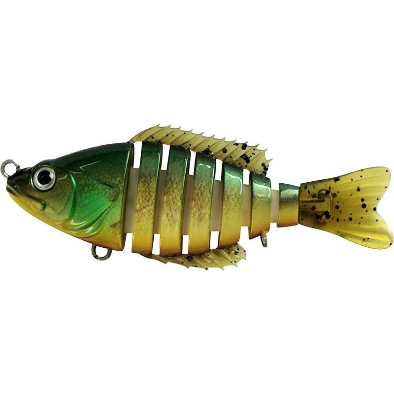 SEGMENT SHAD 10CM GREEN BROWN