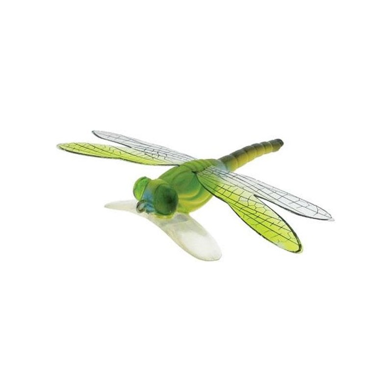 DRAGON FLY POPPER 7CM VERT-MARRON