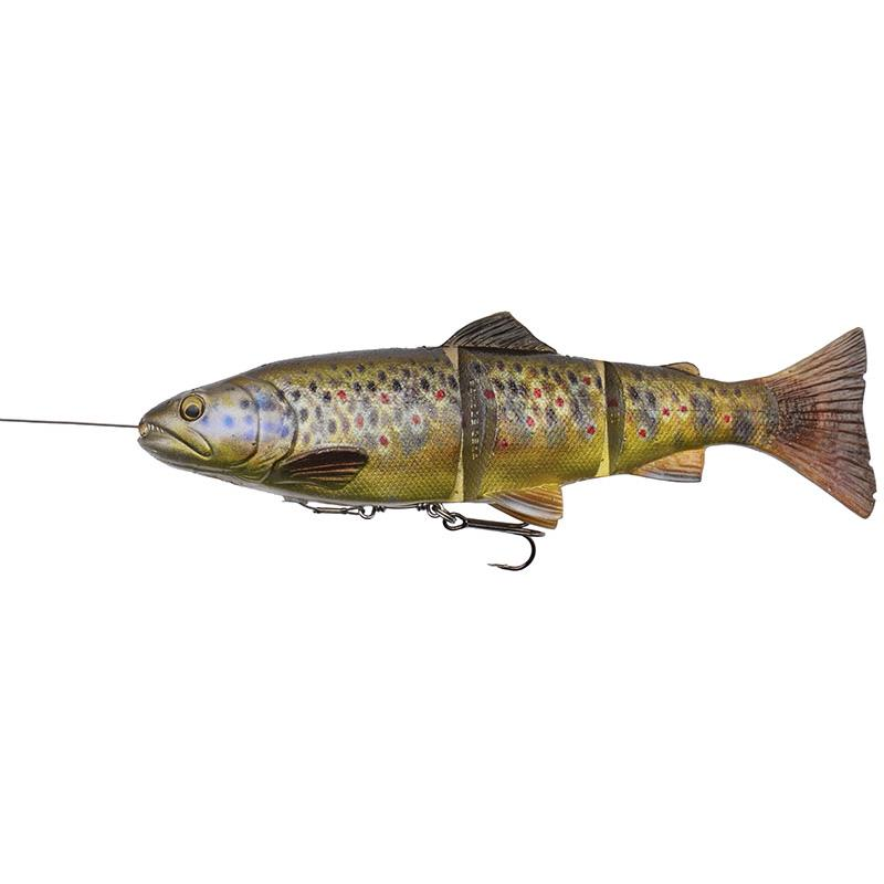 4D LINE THRU TROUT 20CM DARK BROWN TROUT MS