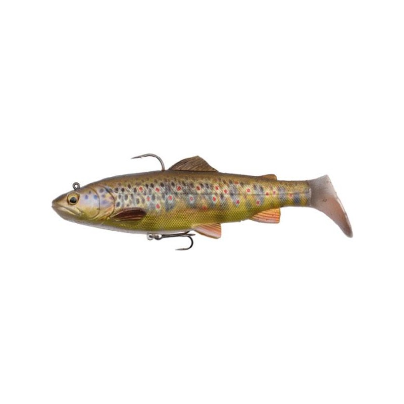 Lures Savage Gear 4D RATTLE TROUT 12.5CM DARK BROWN TROUT
