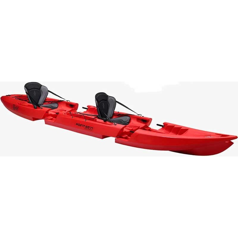 Embarcations Point 65°N TEQUILA GTX KAYAK MODULABLE DUO ROUGE