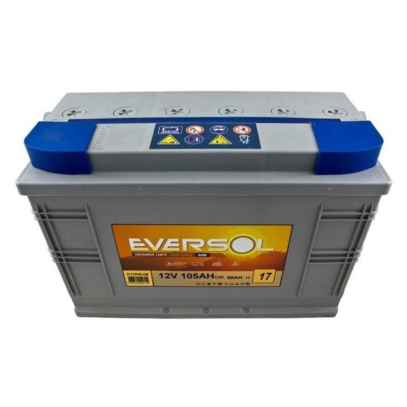 Batterie eversol decharge lente agm 12v