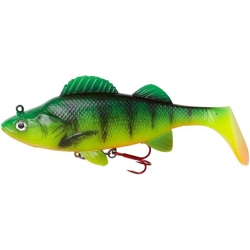 Lures Effzett NATURAL PERCH PADDLE TAIL 18CM FIRE PERCH