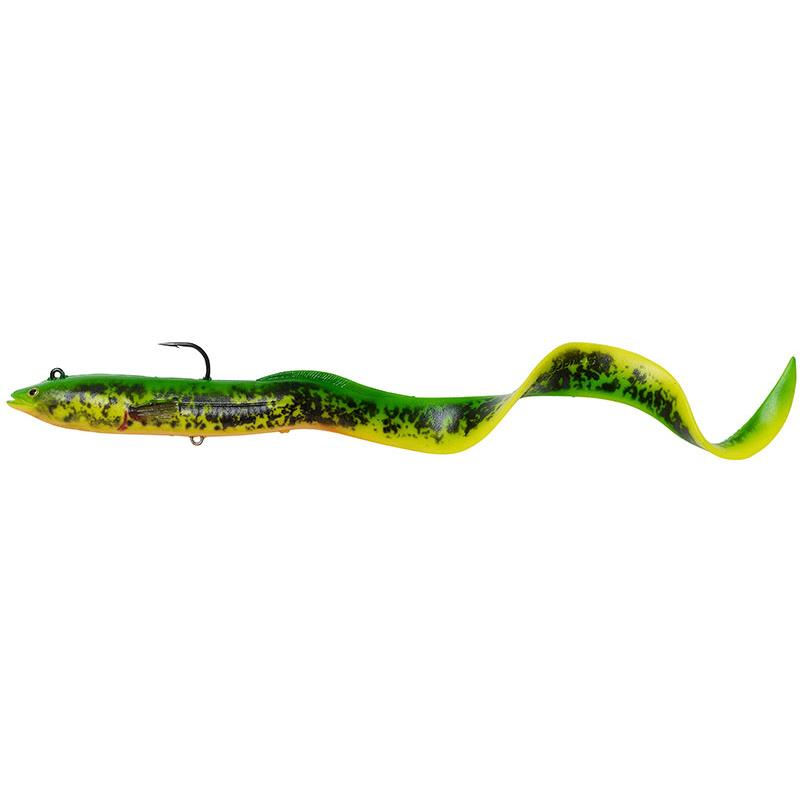 Lures Savage Gear 4D REAL EEL 30CM FIRE TIGER FLUO
