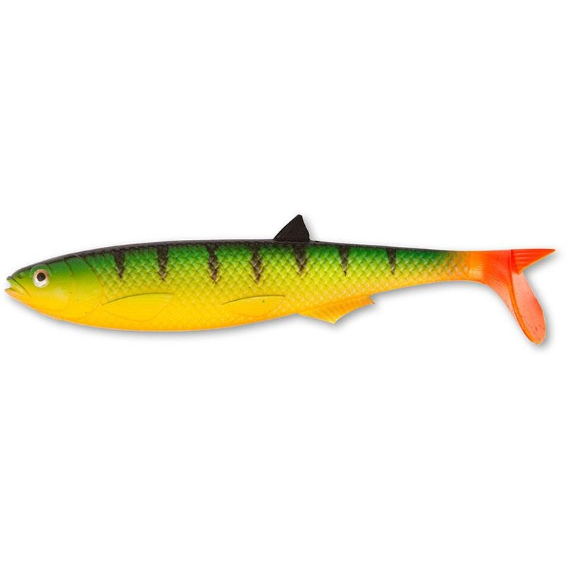 Lures Quantum YOLO PIKE SHAD 30CM FIRE TIGER HOT TAIL